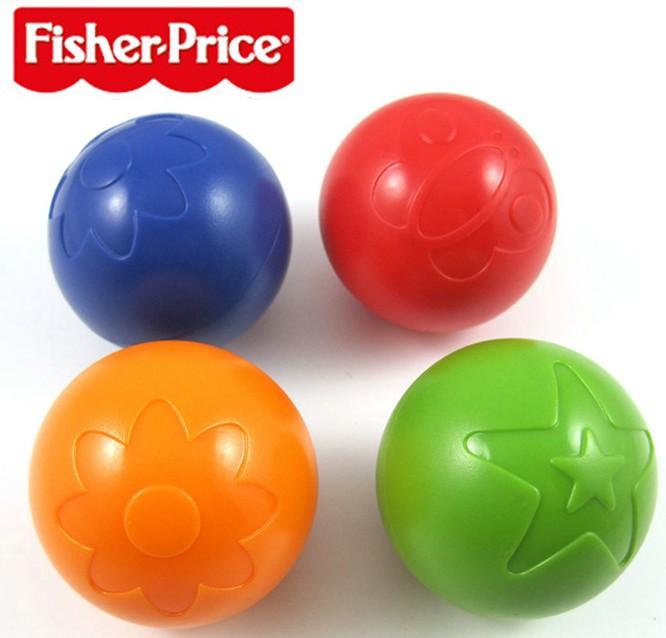 บอลลอยน้ำ เขย่ามีเสียง Fisher-Price แพค 4 ลูก 4 สี