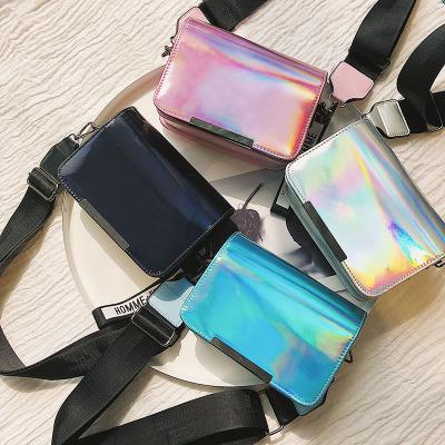 Pre-Order กระเป๋าเลเซอร์ขนาดเล็ก รุ่นเกาหลีของสายสะพายไหล่กว้างง่ายไหล่กระเป๋า