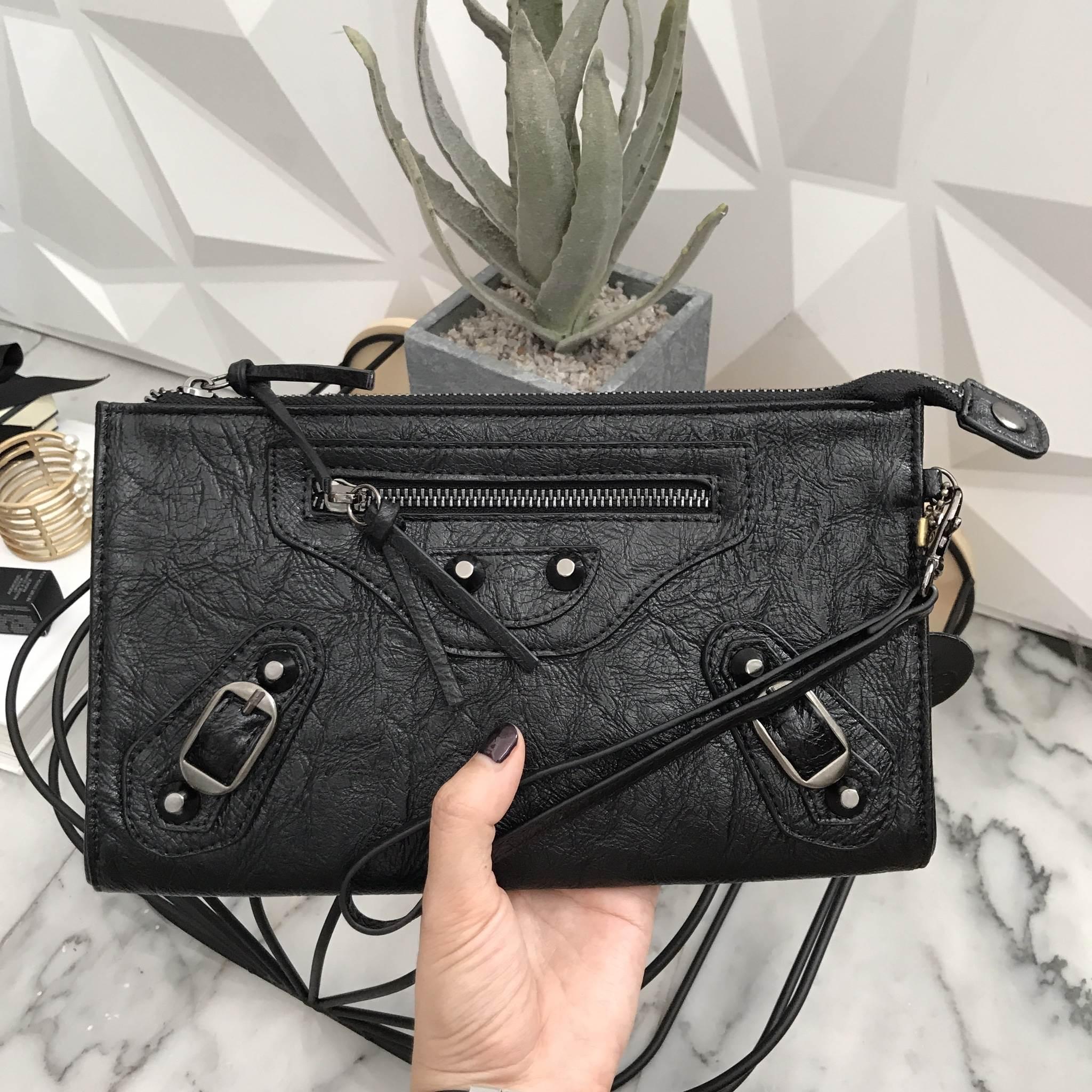 KEEP Milan shoulder & clutch bag สีดำ