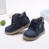 รองเท้าคัชชูเด็กชาย สีน้ำเงินสุดเท่ ผูกเชือกหลอก มีซิปข้าง (เท้ายาว 12-17 ซม.)
