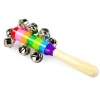 [แจกฟรีเมื่อซื้อครบ 1000][มีตำหนิ] ของเล่นลูกกระพรวนติดไม้สีรุ้ง เขย่ากรุ๊งกริ้ง
