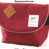 กระเป๋า ANELLO POLYESTER CANVAS SHOULDER BAG สี Red Wine