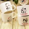 แก้วคู่นมวัวหูจับ ชุด I LOVE MILK <พร้อมส่ง>