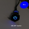 ON-OFF(Black) Switch Molex ไฟสีน้ำเงิน (16มม.)