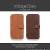 Zenus : [Vintage Diary] Genuine Nubuck Leather Cover Case For Samsung Galaxy S6
