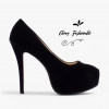 รองเท้าส้นสูงไซส์ใหญ่ Midnight Ella Platform ไซส์ 40 รุ่น KR0592