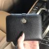กระเป๋าเงิน ใบสั้น สีดำ หนังแท้ KEEP Exotic short wallet bag #ใบนี้หนังแท้ค่ะ