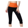 กางเกงออกกําลังกายผู้หญิง เลกกิ้งออกกำลังกาย ขา 5 ส่วน สีส้ม