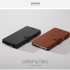 Zenus Lettering Diary Synthetic Leather Cover Case for Samsung Galaxy Note 4