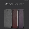 Hanton : Leather Flip Plain Case Hard Plastic Fixed Cover for Apple iPhone 6 (4.7inch)
