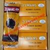 ถุงมือยางดำ 3 SWANS NO.162 (สามห่าน)
