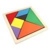 Tangram ของเล่นไม้ตัวต่อปริศนา 7 ชิ้น พัฒนาสมอง