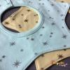 ผ้าซับน้ำลายเด็ก ผ้ากันเปื้อนเด็กเล็ก แบบ 360 องศา ปลายแฉก / ลายดาว 8 แฉก (มี 2 สี)
