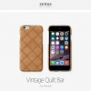 ZENUS : Vintage Quilt Genuine Leather Fitted Case Cover for Apple iPhone 6 (4.7inch)