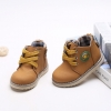 รองเท้าคัชชูเด็กชาย สีเหลืองน้ำตาลสุดเท่ ผูกเชือกหลอก มีซิปข้าง Size 26-30 (เท้ายาว 14-17 ซม.)