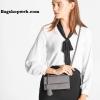 กระเป๋าเงิน กระเป๋าครัช Charles & Keith Top Handle Clutch Bag สีเทา ราคา 1,090 บาท Free Ems