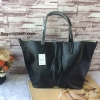 กระเป๋า MNG Shopper bag สีดำ กระเป๋าหนัง เชือกหนังผูกห้วยด้วยพู่เก๋ๆ!! จัดทรงได้ 2 แบบ