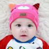 HT420••หมวกเด็ก•• / หมวกบีนนี่-หมียิ้ม (สีชมพูเข้ม)
