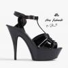 รองเท้าส้นสูงไซส์ใหญ่ 42 John Wayne สีดำ รุ่น KR0280