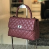 "Premium Caviar 10.5"" Genuine Sheep Leather Handbag 2017"
