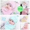 เซตหมวก+ผ้าซับน้ำลาย / ลาย Lovely Baby (มี 6 สี)