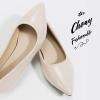 รองเท้าส้นแบนไซส์ใหญ่ 41-42 Shanon Glossy Pointed รุ่น KR0622