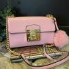 กระเป๋า ALDO Cross Body Bag With Faux Fur PomPom สีชมพู ราคา1,290 บาทEms Free (จากราคาปกติในช็อป 1,790)
