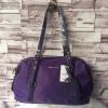 กระเป๋า MANGO NYLON HANDBAG สีม่วง กระเป๋าผ้าไนล่อนเนื้อดีและหนา ทรงหมอน มาพร้อมสายสะพายยาว