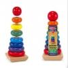 ของเล่นไม้ เรียงห่วงสวมหลัก Rainbow Stacker ขนาดสูง 21 ซม.