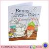 Peter Bently : Bunny Loves To Colour - Colour the Story หนังสือนิทานพร้อมระบายสี กระต่ายน้อย พร้อมสติกเกอร์ 100 Stickers