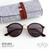 [pre-order] แว่นกันแดด STEVEN - brown ทรงกลม ขาโลหะ 140 mm. (size M)