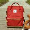 กระเป๋าเป้ ANELLO X PAGEBOY สีแดง ขนาด Regular size สีใหม่! วัสดุ Polyester canvas สลับหนังกลับ ปากกระเป๋าเปิดปิดด้วยซิปคู่และม