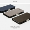 ZENUS : Metallic Synthetic Leather Diary Case for Apple iPhone 6 (4.7inch)