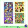 Oxford : Tasty Noisy Seaside Machine Poems : 4 Books Set เซตหนังสือส่งเสริมการอ่านคำคล้องจอง Nick Sharratt