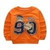เสื้อกันหนาวเด็กเล็ก แขนยาว เนื้อนุ่ม สีส้ม สกรีนลายตัวเลข สำหรับเด็กวัย 1-3 ปี