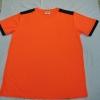 (ยี่ห้อRelate) เสื้อใช้แจกโฆษณา (คอกลม) แขนสั้น มีแถบบ่าสี (ผู้ใหญ่)