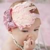 ผ้าคาดผมเด็กขนนก Princress สีชมพูประดับโบว์เลื่อม