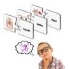 จิ๊กซอ จับคู่ภาพคำศัพท์ Match-it! Human Body Part แฟลชการ์ดจับคู่เสริมสร้างทักษะภาษาอังกฤษ