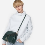 Charles & Keith Contrast Textured Shoulder Bag 2017