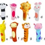 ตุ๊กตาผ้านุ่มๆ บีบมือมีเสียง BIBI รูปสัตว์น่ารัก