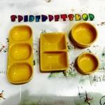 ถ้วยเซ็ท 4 ชิ้น เหลือง (สีพิเศษ)