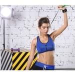 สปอร์ตบรา ชุดกีฬาผู้หญิง รุ่นซิปหน้า รองรับแรงกระแทกระดับ 4 ใส่สบาย - สีน้ำเงิน