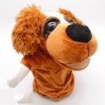 ตุ๊กตามือหมาหูยาวสแปเนียล หัวใหญ่ ขนนุ่มนิ่ม สวมขยับปากได้
