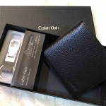 Value Pack Calvin Klein Men Wallet With Leather Key Chain **กล่องกระดาษแบรนด์**