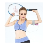 สปอร์ตบรา Sport Bra ซิปหน้า รุ่น 3D ไร้โครง ใส่เล่นฟิตเนต วิ่ง โยคะ ยึดตัว - สีน้ำเงิน