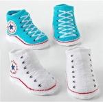 ถุงเท้าเด็กอ่อน 0-12 เดือน พิมพ์ลายรองเท้าผ้าใบ พื้นมีกันลื่น
