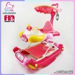 รถเข็นหัดเดินปรับโยกได้ หน้ากระต่าย FARLIN สีชมพู