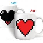 แก้วน้ำหัวใจพิกเซล PIXEL HEART