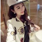เสื้อคลุมลายการ์ตูนเวอร์ชั่นเกาหลี เนื้อผ้านุ่ม สีขาว