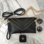 กระเป๋า PARFOIS Clutch bag with strap แถมฟรี สาย 3 แบบ คุ้มมากค่ะ